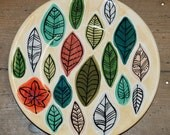 Stylised Leaf Design Plat...