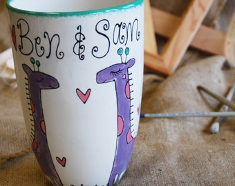 Personalised Giraffe Wedding Vase