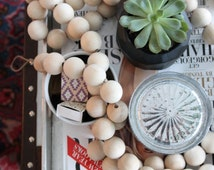 Nest & String For Pearls Collaboration. Designer Wooden Bead Garland