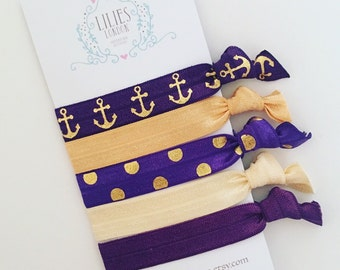 Nautical hair ties