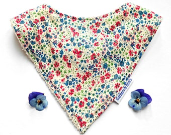 Liberty Print 'Phoebe' Dribble bib for ages 0 - 2 years