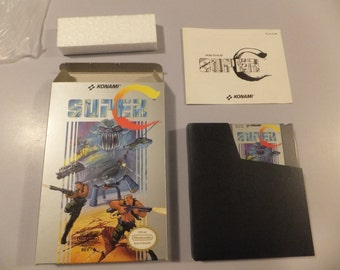 Super C Contra Original NES Nintendo Vintage Video Game Complete