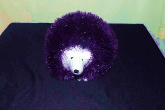 Sparkly Hedgehog Knitting Pattern : Purple Sparkly Hedgehog Hand knitted purple sparkle