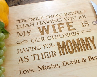 Personalized Cutting Board, Custom Engraved Cheesboard - Gift for Wife, Mom, Mother's Day, Anniversary Gifts, Birthday Gift. 103