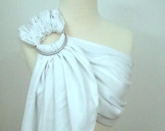 Broken twill ring sling - 100% organic cotton- Snow white
