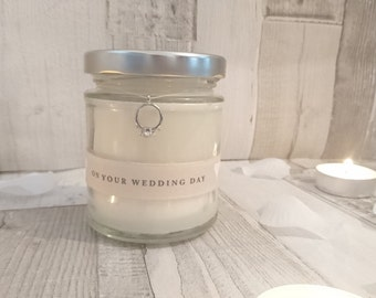 On your wedding day/Ring Scented Candle