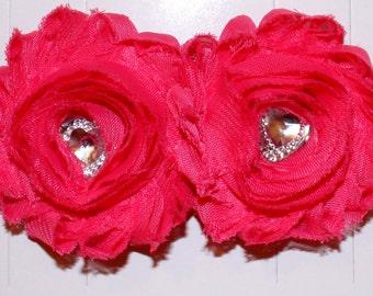 Rose Headband, Deep Pink Headband, Hot Pink Headband,  Newborn Headband, Baby Headband, Girls Headband, Toddler Heaadband, Flower Headband
