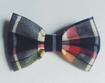 Plaid Bow Tie - Baby // Toddler // Child - Clip On