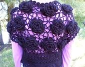 Bolero for girl,crochet knitted Bolero,lace Bolero,Bolero cotton,purple Bolero,Bolero for dresses.Bolero to order,bolero crocheted handmade