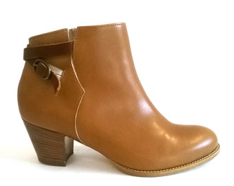 Leather BOOTIES ankle boots real leather summer GARCIA FLORENCE