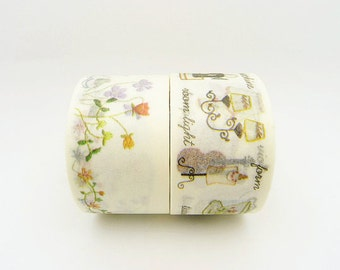 Japanese Washi Tape Set of 2 Rolls - 25mm x 10m Tsutsumu Masking Tape