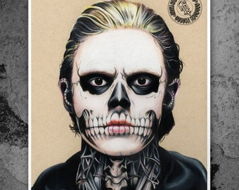 American Horror Story: Tate Langdon - Illustrated Gicleé Print
