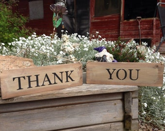 Handmade Wooden Shabby Rustic Country Sign Wedding Barn Thank You Photo Prop