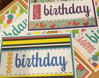 Birthdsy Cards - Set of 6