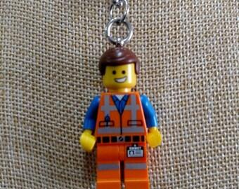 Emmet Necklace (LEGO® Minifigure) - The Lego Movie, Emmett Brickowski, Chris Pratt, Wyldstyle, Lucy