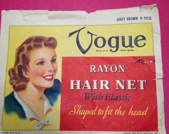 Vogue Rayon Hair Net  1943