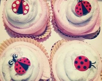 Washcloth Cupcakes - Baby Shower Gift