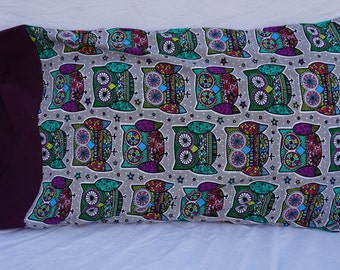 Cute Colorful Owls Pillowcase
