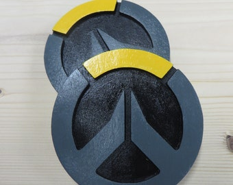 Overwatch themed drink coasters, hand painted, made of wood (Set of 4)