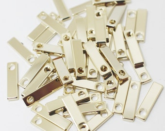 P0413/Anti-tarnished Gold Plating Over Brass/Square Tag Pendant/3.5x14mm/10pcs