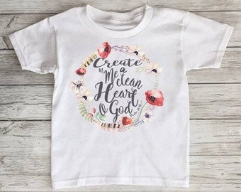 Psalm 51:10 Clean Heart Toddler Tshirt Baby Onesie