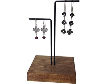 Earring display, earring stand, craft show display, store display E102