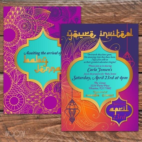 Moroccan Themed Baby Shower Printable DIY Arabian by Wooem on Etsy