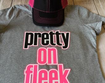Womens T shirt With Sayings-Pretty on Fleek-Womens T Shirt-Soft cotton clothing.