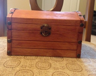 Hand-stained Wooden Chest
