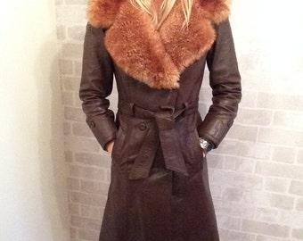 70's Penny Lane Leather Coat
