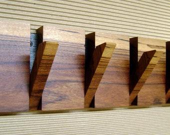 Wall coat hanger, 4 hooks coat hanger, wood wall art, wooden coat rack