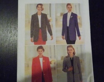 Sewing pattern Butterick 4639 Misses' jacket new uncut size 18 to 22 PLUS SIZE