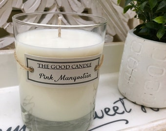 Pink Mangosteen - All Natural, Hand Poured Soy Wax Candle