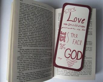 Les Miserables Bookmark