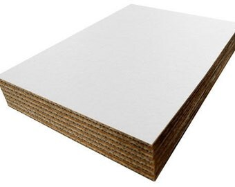 45 white double wall walled cardboard a4 pads envelope stiffeners corrugated card, packaging cardboard, print backing, protective card craft
