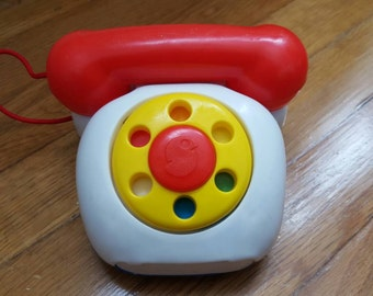 Vintage 1980s Shelcore toy pop up phone