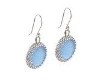 """Light blue """"Luna """" earrings"""