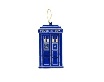 Doctor Who inspired TARDIS Ornament