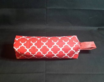 Red pencil pouch