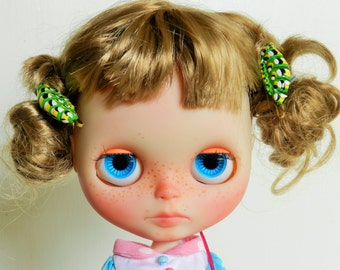 hair pin caterpillar polymer clay bobby pins Blythe accessory