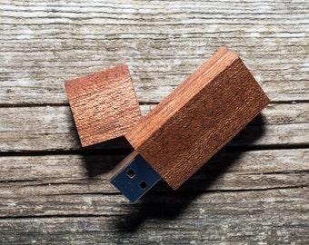 Set of 10 SAPELLY wood USB flash drive memory sticks 8GB/16GB/32GB/64GB