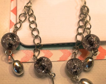 Earring: Beaded Chain