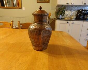 vintage Copper Urn hand made
