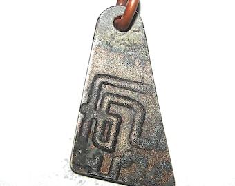 Titanium Forged Pressed Metal Pendants