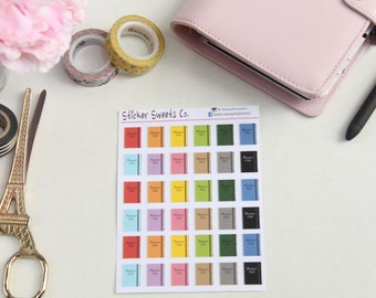 Silver Coil Planner Stickers