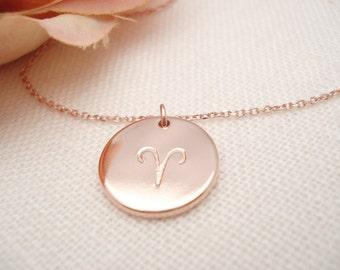 Hand Stamped Zodiac Necklace...Aries, Taurus, Gemini, Cancer, Leo, Virgo, Libra, Scorpio, Sagittarius, Capricorn, Aquarius, Pisces