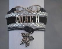 Lacrosse Coach Bracelet- Lacrosse Jewelry - Lacrosse Bracelet - Perfect Lacrosse Gift For Coaches!!