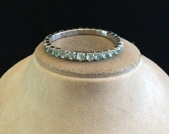 Vintage Baby Blue Rhinestone Bracelet