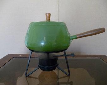 Retro Green Fondue Pot - Great Shape!