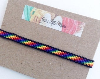 LGBT friendship bracelet / Gay pride bracelet / Pride Bracelet / Rainbow bracelet / Colorful bracelet /  Gay jewelry / Friendship bracelet